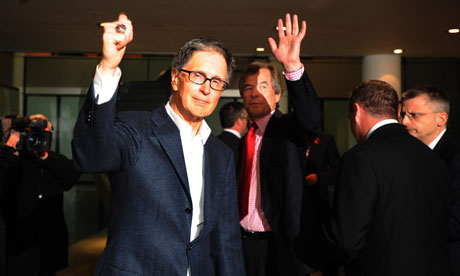 Liverpool FC's new owner, John W Henry of NESV, with the Liverpool chairman Martin Broughton