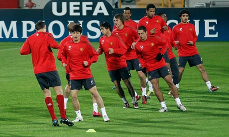 Manchester United train ahead of their Champions League tie against Bursaspor
