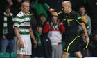 Scott Brown's red card dampens mood at table-topping Celtic