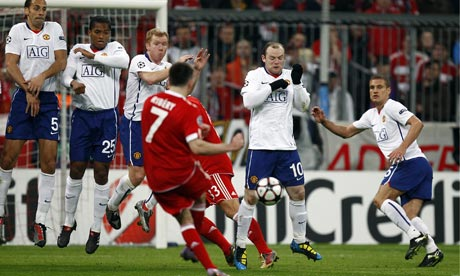 Ribery scores for Bayern Munich