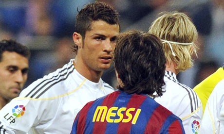 Real Madrid's Cristiano Ronaldo, left, was eclipsed by Lionel Messi of ...