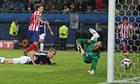 Diego Forlán scores Atlético Madrid's winner