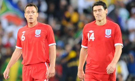 England's John Terry and Gareth Barry
