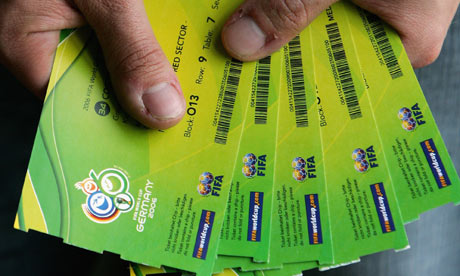 World Cup tickets Claims that World Cup 2006 ticket-holders had their