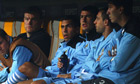 Carlos Tevez, centre, has put forward his argument following the confrontation with Roberto Mancini