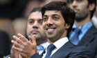 The Manchester City owner Sheikh Mansour bin Zayed Al Nahyan