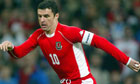 Gary Speed in action for Wales