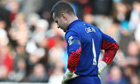 Aston Villa's Shay Given could not disguise his emotions before kick-off at the Liberty Stadium