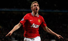 The Manchester United midfielder Darren Fletcher