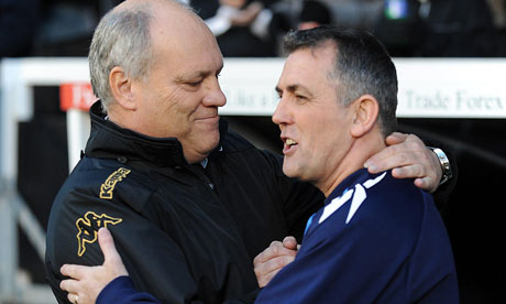 Martin Jol and Owen Coyle