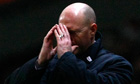 The Blackburn manager, Steve Kean, reacts