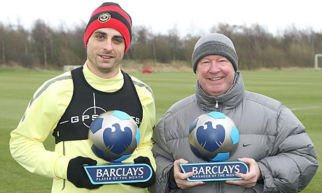 Dimitar Berbatov and Sir Alex Ferguson
