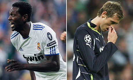 Emmanuel Adebayor and Peter Crouch.