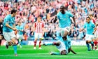 Manchester City's Yaya Touré celebrates scoring the winner in the FA Cup final agai