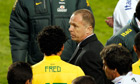 The Brazil coach Mano Menezes