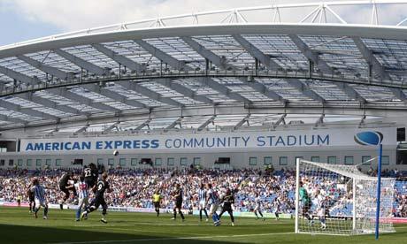 Brighton's new Amex Stadium was the venue for Albion's pre-season defeat to Tottenham, who won 3-2