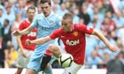 Tom Cleverley and Adam Johnson, Manchester United v Manchester City - FA Community Shield