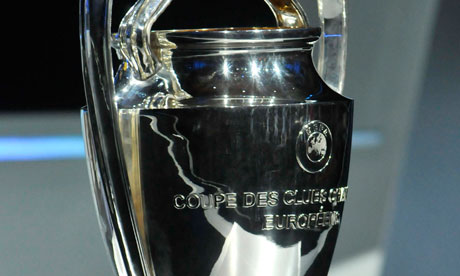 The Champions League trophy