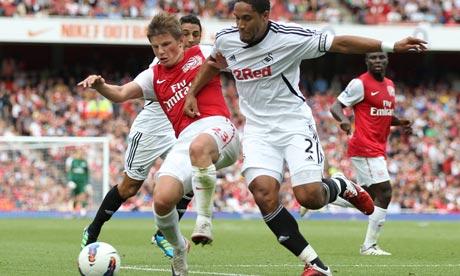 Swansea City vs Arsenal Arsenal 1-0 Swansea City