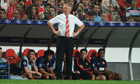 Sir Alex Ferguson looks on as Manchester United draw with Benfica