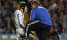 Petr Cech has admitted not being able to stand up at half-time during Chelsea's clash with Fulham