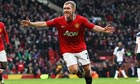 Paul Scholes of Manchester United celebrates