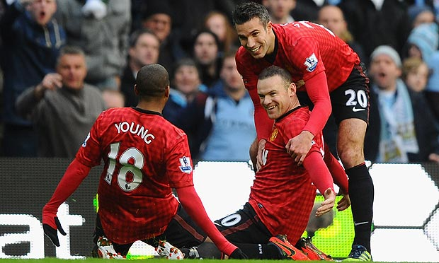 Wayne Rooney 011 Rooney lauded while Balotelli Mancini slaughtered after United beat City, Henry agrees Arsenal loan & Chelsea seek Serb