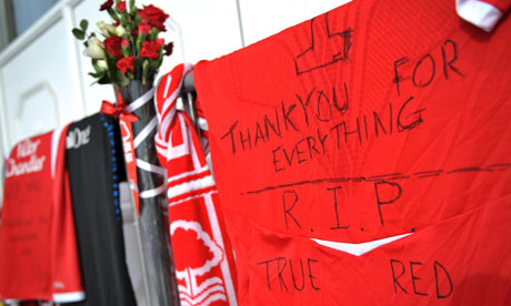 Nigel Doughty Tributes, Nottingham Forest