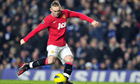 Manchester United's Wayne Rooney scored two p
