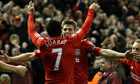 Steven Gerrard celebrates with Luis Suárez