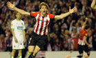Athletic Bilbao's Fernando Llorente celebrates