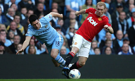 Gareth Barry and Paul Scholes