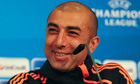 Roberto Di Matteo smiles during a Chelsea news conference