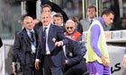 The Fiorentina's trainer Delio Rossi