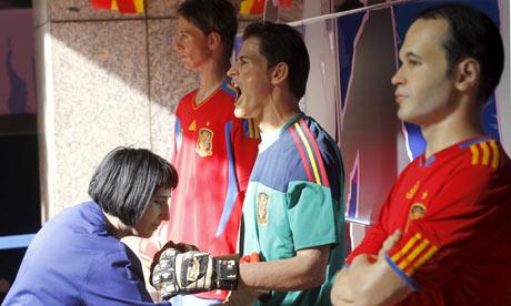 Spain players wax figures