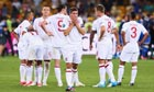 Dejected England players following Euro 2012 exit