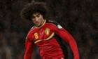 Marouane Fellaini is expected to wear a splint on his wrist during Belgium's World Cup qualifiers.