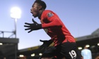 Manchester United's Danny Welbeck celebrates scoring against Norwich City in the Premier League