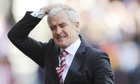 Stoke City's manager Mark Hughes was thwarted in his attempts to sign a forward in the summer