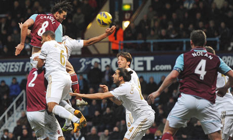 Andy Carroll, West Ham United v Swansea City