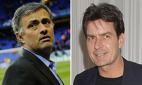 José Mourinho and Charlie Sheen
