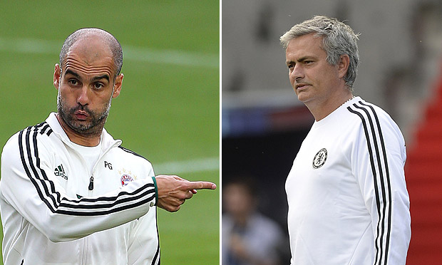 Pep Guardiola and José Mourinho
