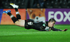 Hull FC's Jamie Shaul scores against Catalans Dragons