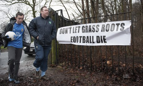 Grassroots football protest