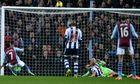 Leandro Bacuna scores Aston Villa's second goal against West Bromwich Albion in the Premier League
