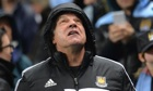 West Ham United's manager Sam Allardyce looks skywards as the Manchester City juggernaut drives on