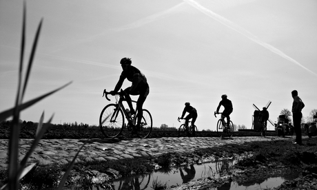 the cobbles of the paris-roubaix