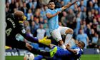 Manchester City beat Everton 3-1 at the Etihad Stadium in October