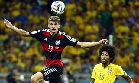 Thomas Müller, left, could win the Golden Boot if he scores for Germany in the final.