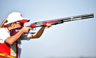 Amber Hill lost out in a shoot-off in the skeet,